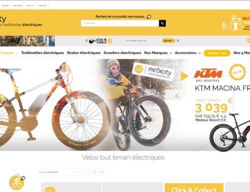 Mobilité douce ! Nouveau site marchand pour MOBICITY